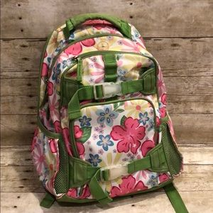 Pottery Barn girls floral backpack